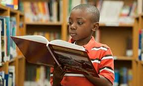 black boy reading