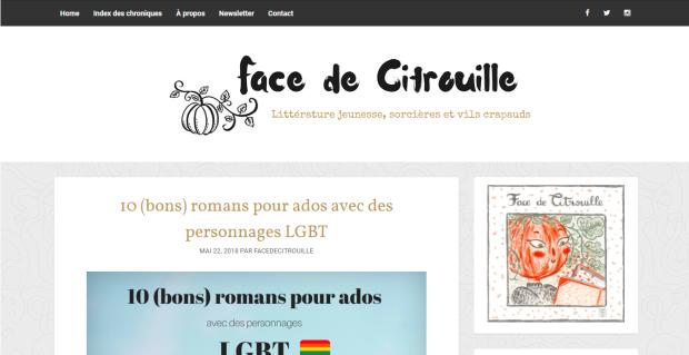 Face de citrouille blog