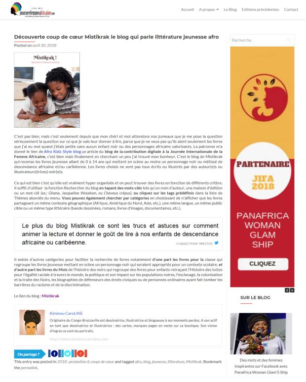 Presse - Journée de la femme africaine (Mistikrak)